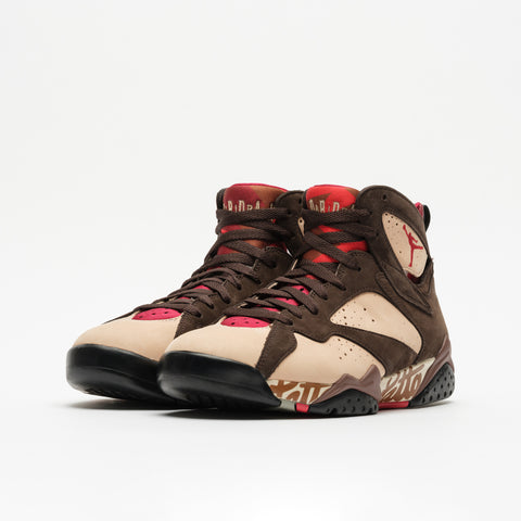 Jordan Patta 7 Retro in Shimmer/Red/Brown - Notre