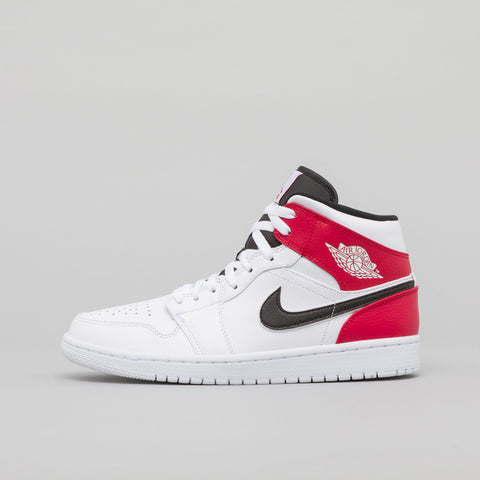 e54f5e8782a67e Jordan Air Jordan 1 Mid in White Red - Notre ...