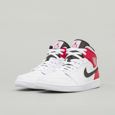 Jordan Air Jordan 1 Mid in White/Red - Notre