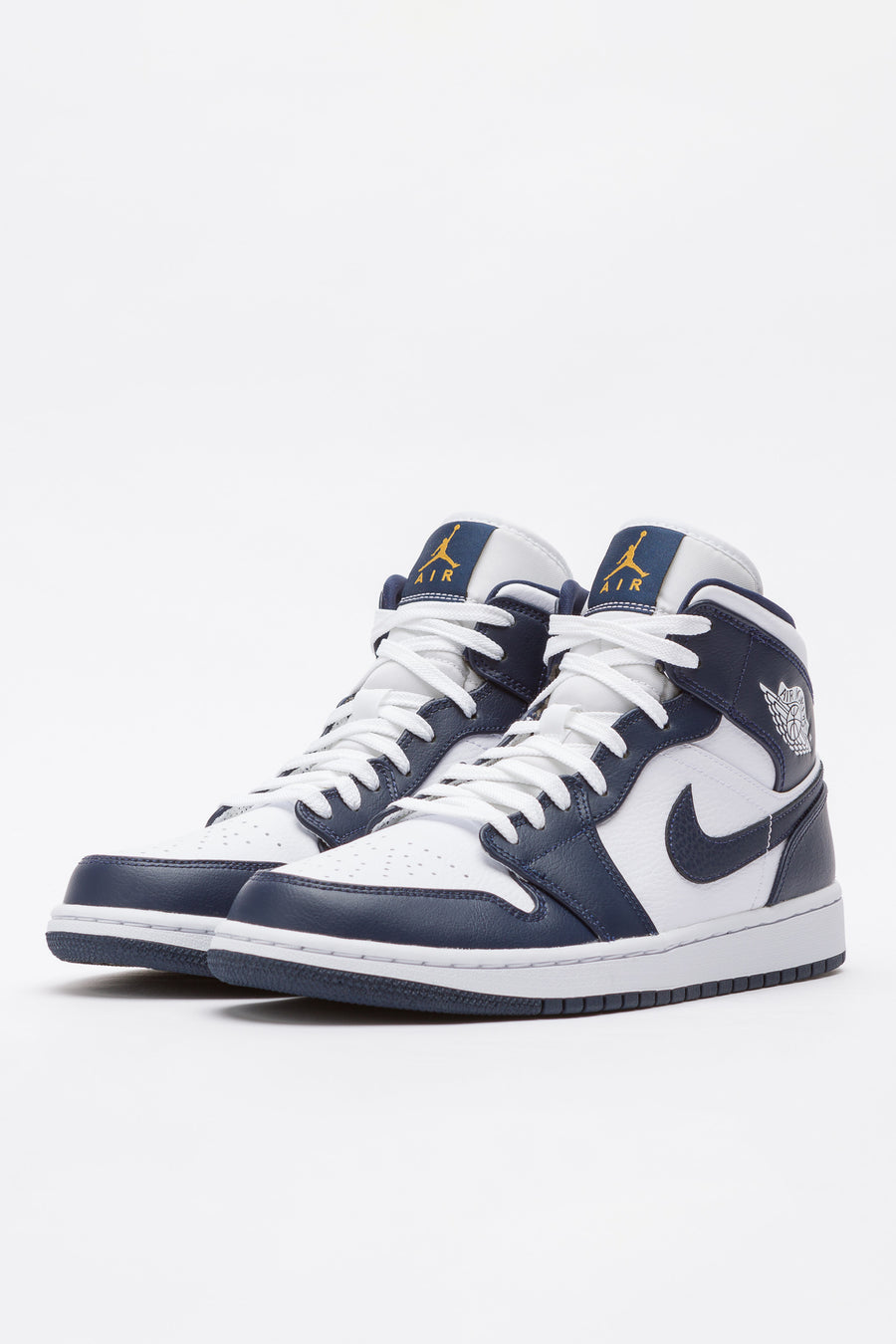 Jordan Air Jordan 1 Mid in White/Obsidian - Notre