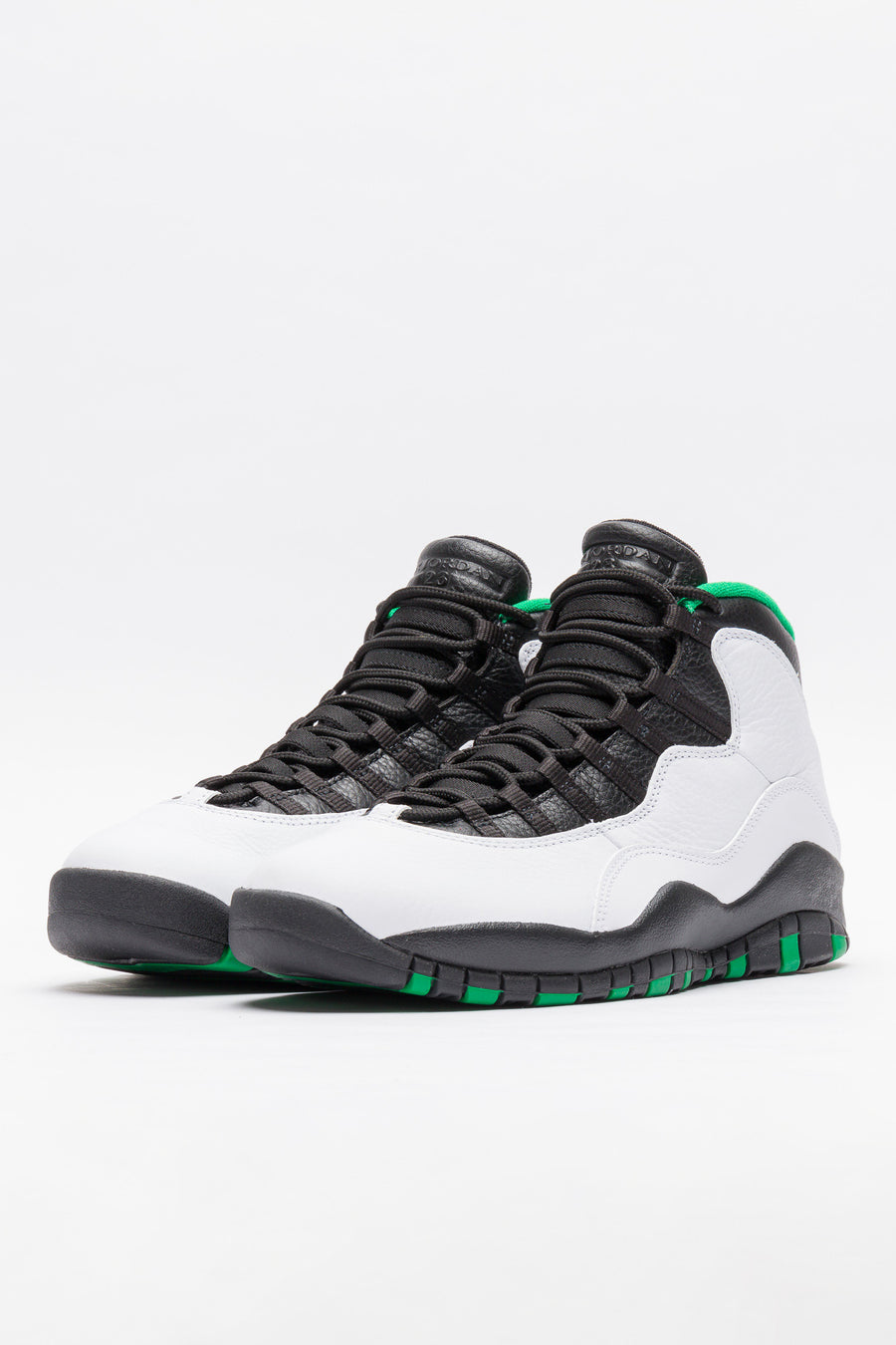 Jordan Air Jordan 10 Retro in White/Black/Green - Notre
