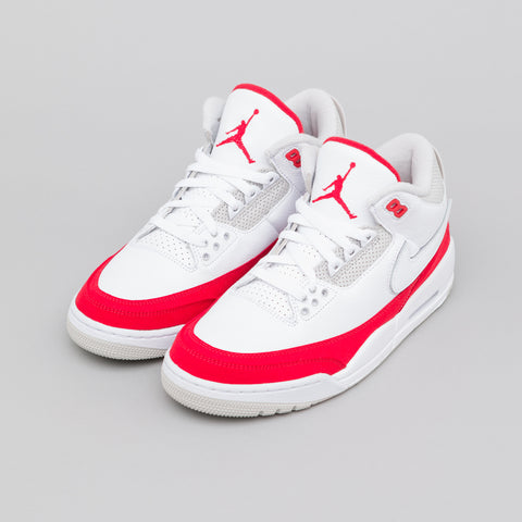 Jordan Air Jordan 3 Retro TH SP in White/University Red - Notre