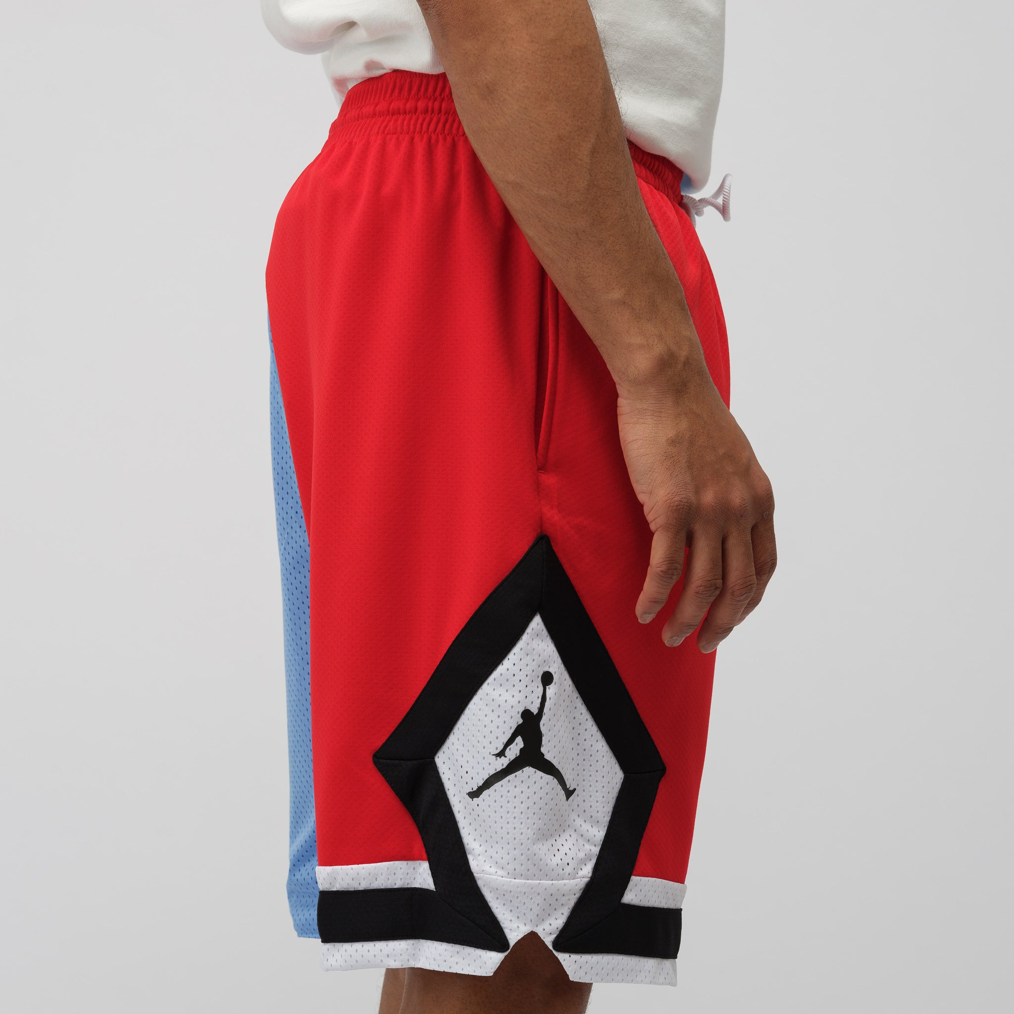 DNA Distorted Shorts in Blue/Red
