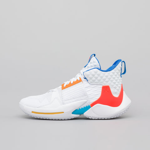 Jordan Jordan Why Not Zer0.2 in White/Crimson/Blue - Notre