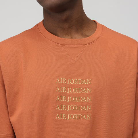 Jordan Remastered Crewneck T-Shirt in Dusty Peach - Notre