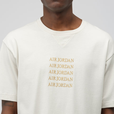 Jordan Remastered Crewneck T-Shirt in Light Bone - Notre