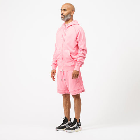 Jordan Wings Washed Fleece Full Zip Sweatshirt in Digital Pink - Notre
