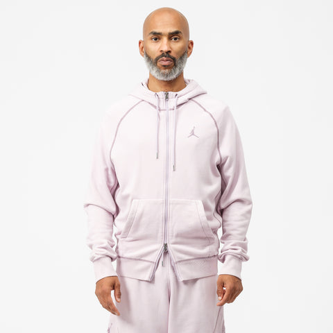Jordan Wings Washed Fleece Full Zip Sweatshirt in Iced Lilac - Notre
