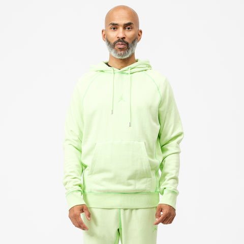 Wings Washed Fleece Pullover Sweatshirt in Ghost Green
