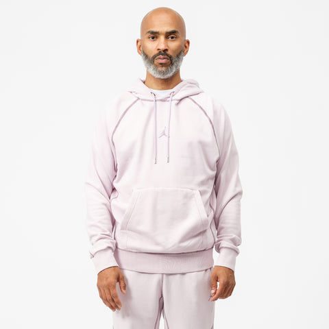 Wings Washed Fleece Pullover Sweatshirt in Iced Lilac