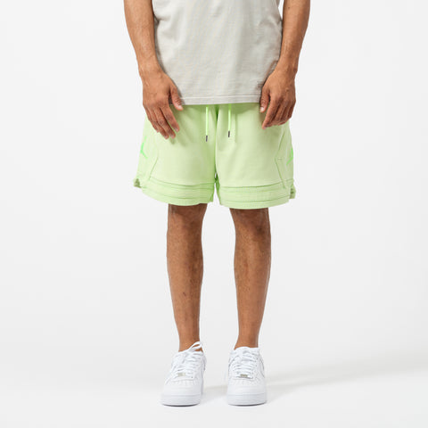 Wings Washed Fleece Short in Ghost Green