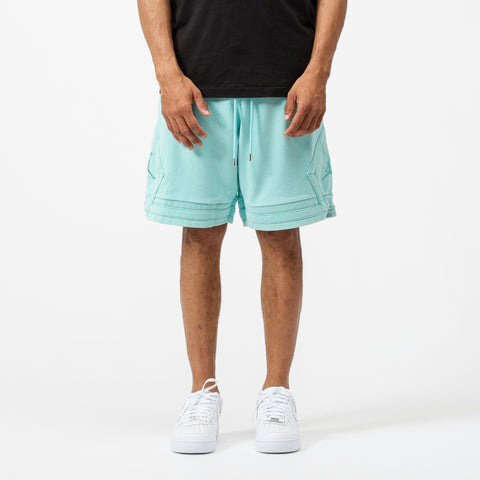 Wings Washed Fleece Short in Light Aqua