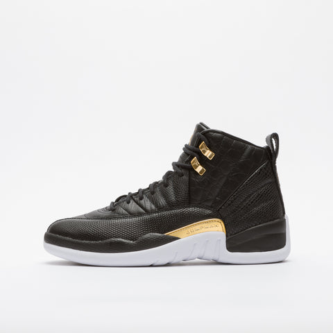 Jordan Air Jordan 12 Retro in Black/Metallic Gold - Notre