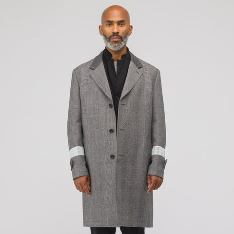 Junya Watanabe 3M Check Coat in Grey - Notre