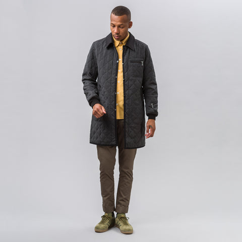 Junya Watanabe Long Quilted Bomber in Charcoal - Notre