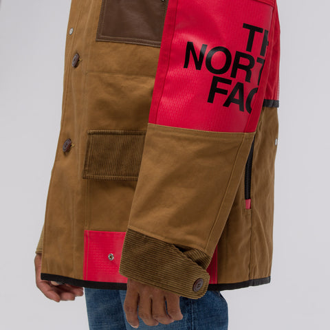 Junya Watanabe x The North Face Cotton Oxford Jacket in Golden Brown/Red - Notre