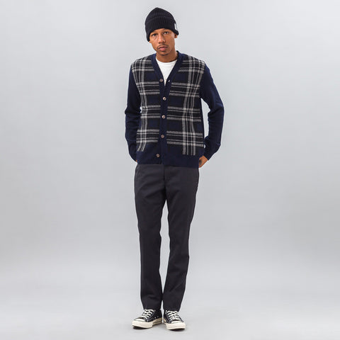 Junya Watanabe Wool Trouser in Dark Navy Stripe - Notre