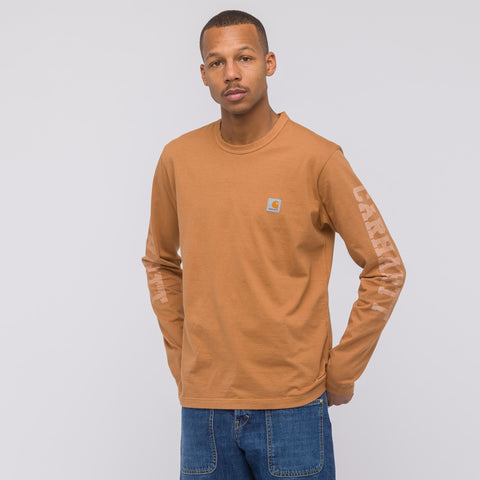 Junya Watanabe x Carhartt Long Sleeve T-Shirt in Brown - Notre