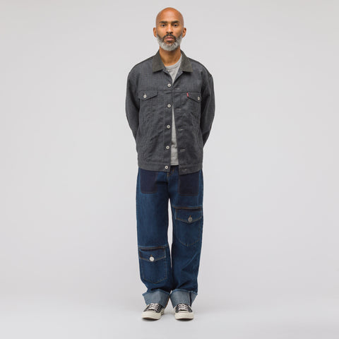 Junya Watanabe x Levi's Wool Jacket in Navy/Grey - Notre