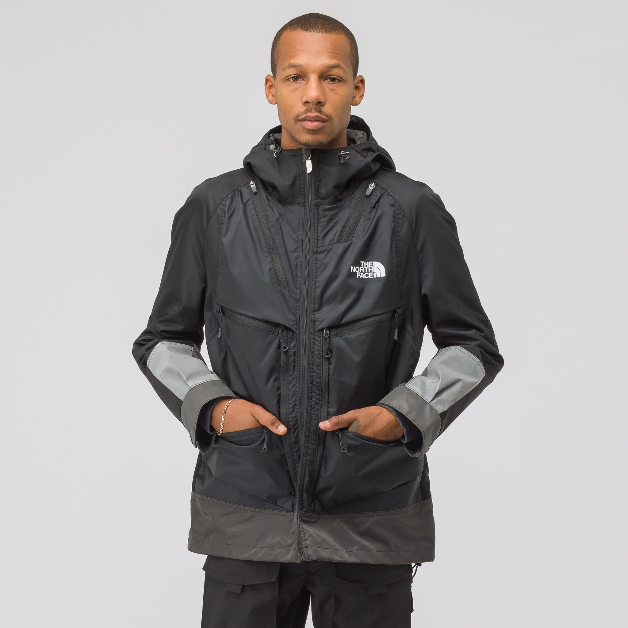 x The North Face Backpack Coat in Black