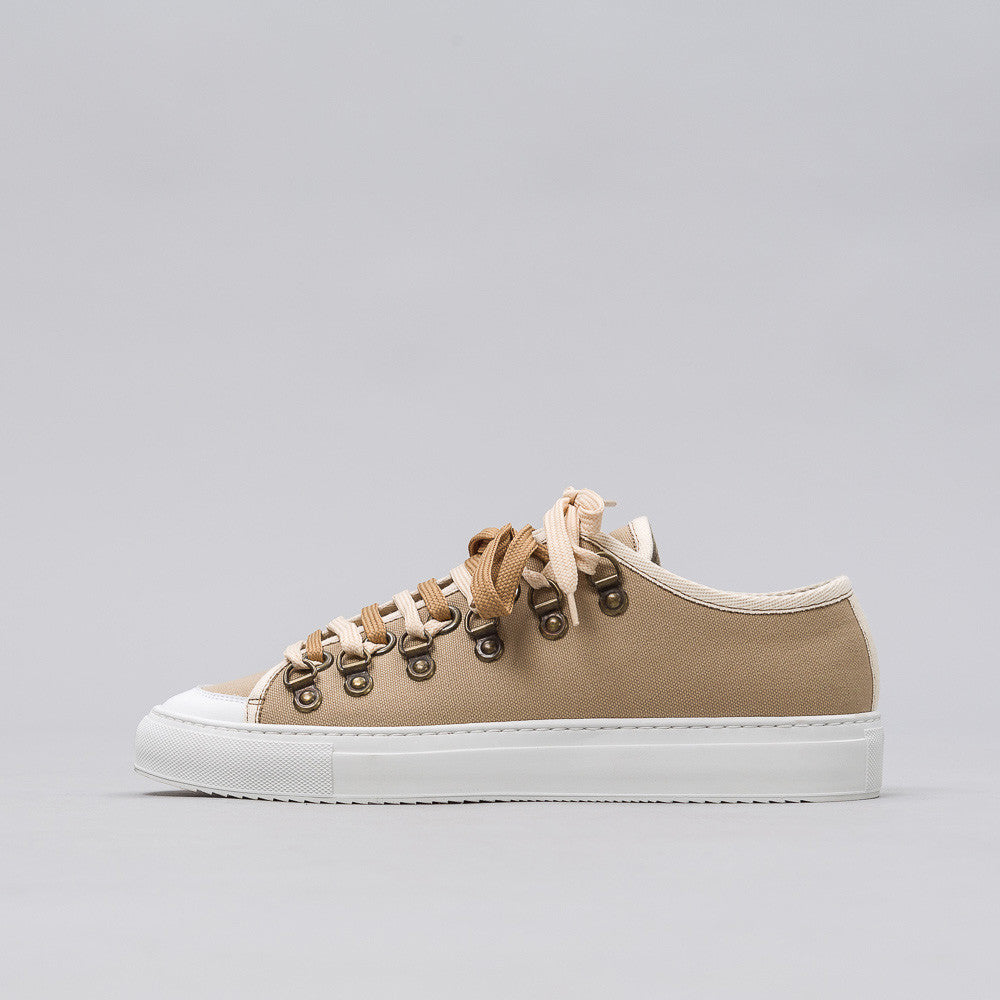 J.W. Anderson Low Canvas Trainer in Flax Notre 1
