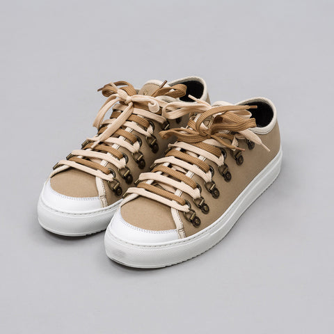 J.W. Anderson Low Canvas Trainer in Flax - Notre