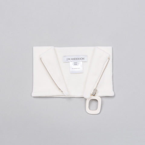 J.W. Anderson Neckband with Zip Detail in White - Notre