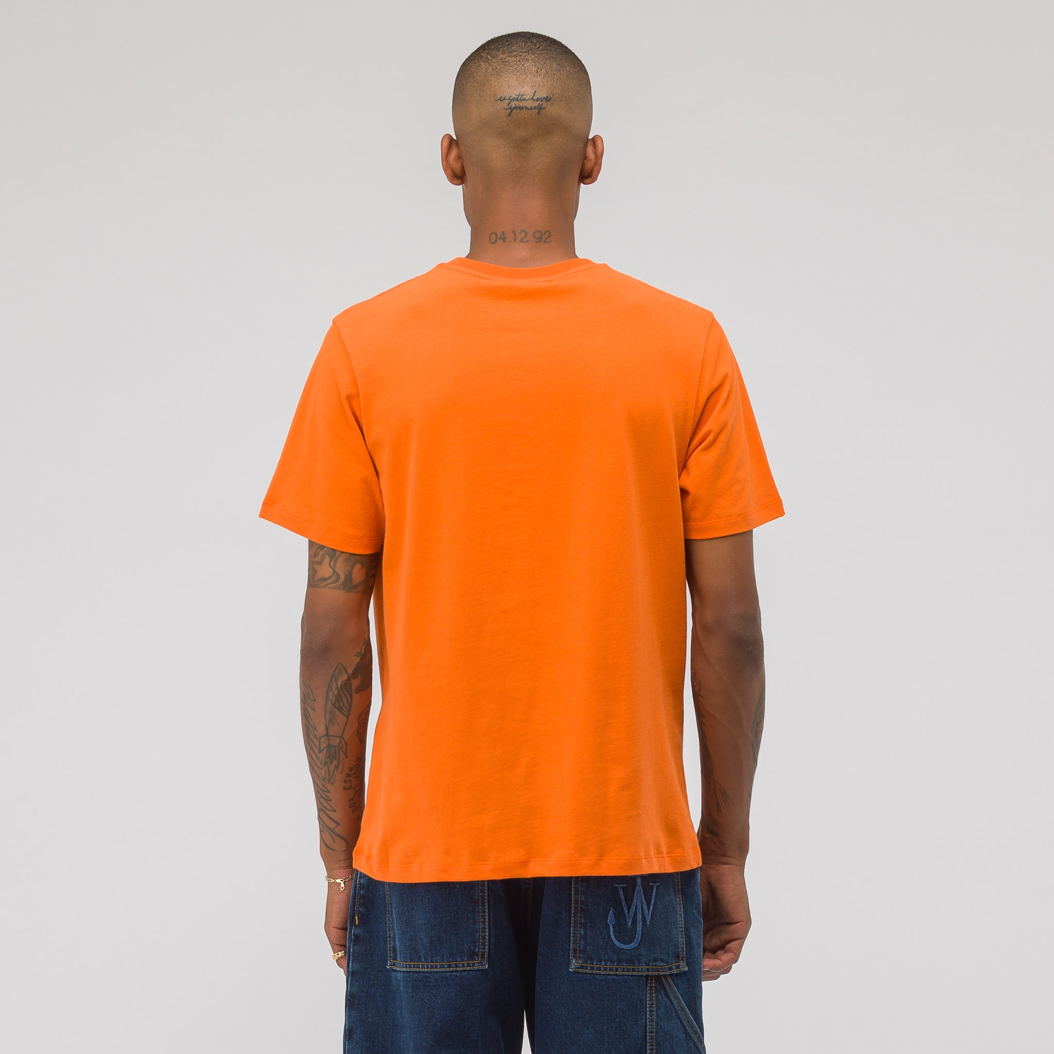 University Logo Print T-Shirt in Satsuma