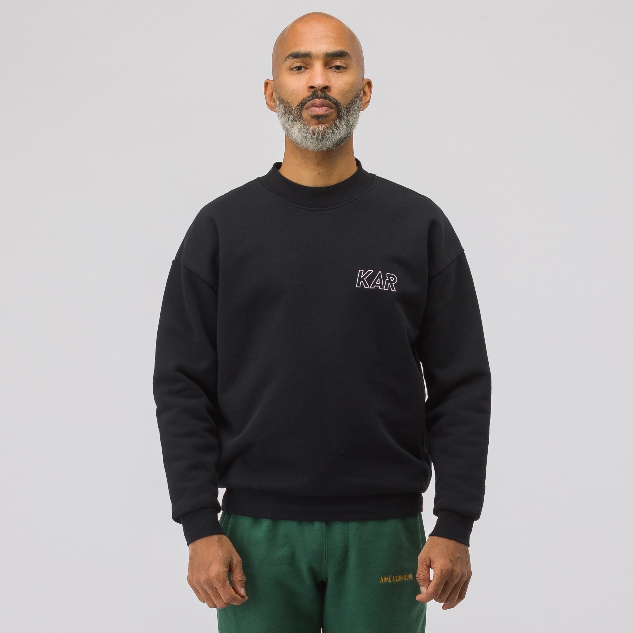 KAR GT Reversible Crewneck in Black