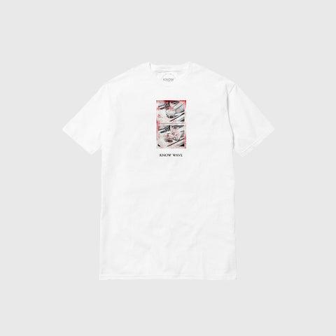 Know Wave Black Jack T-Shirt in White - Notre