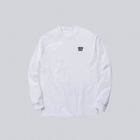 Know Wave Public Domain Long Sleeve T-Shirt in White - Notre