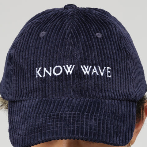 Know Wave Corduroy Hat in Navy - Notre