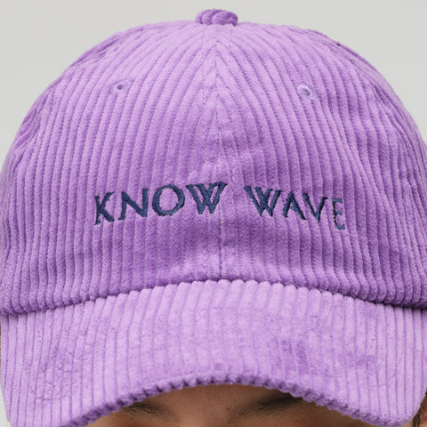 Know Wave Corduroy Hat in Purple - Notre
