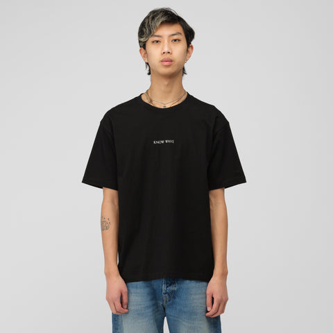 Know Wave Imprint Logo T-Shirt in Black - Notre