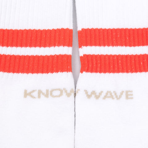 Know Wave KW Socks in White-Orange - Notre