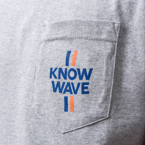 Know Wave Median Short-Sleeve Pocket Tee in Heather Grey - Notre