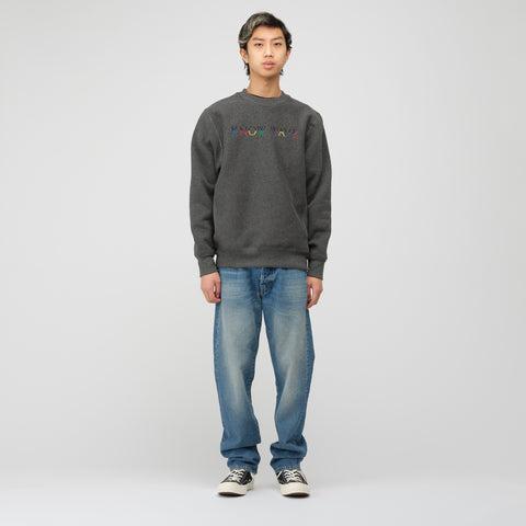 Know Wave Multi Crewneck Sweatshirt in Charcoal - Notre