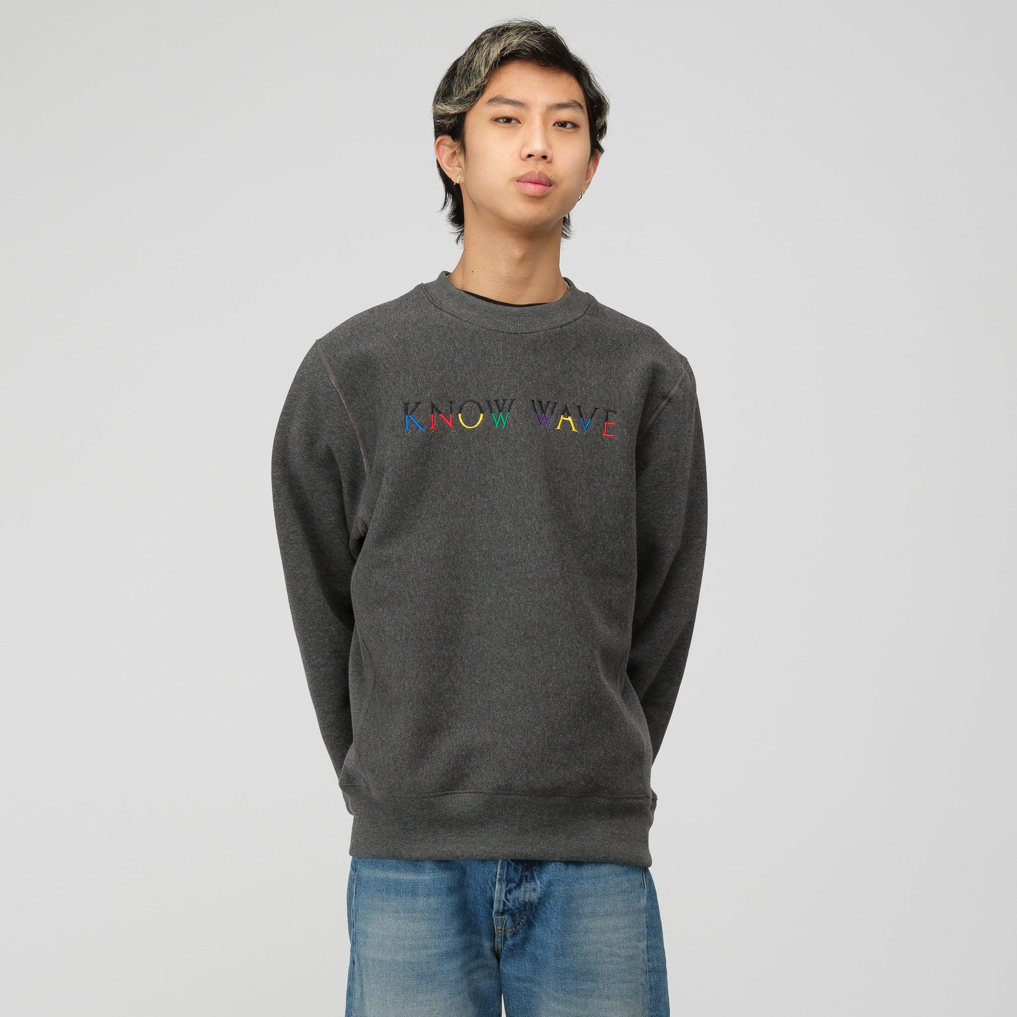 Multi Crewneck Sweatshirt in Charcoal