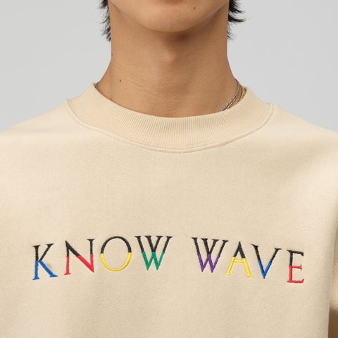 Know Wave Multi Sweatshirt in Cream - Notre