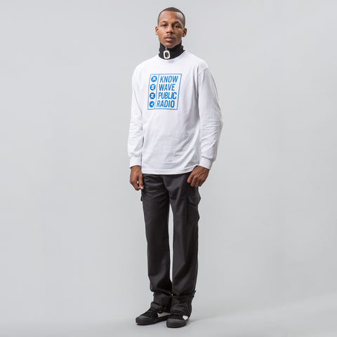 Know Wave Public Long Sleeve T-Shirt in White - Notre