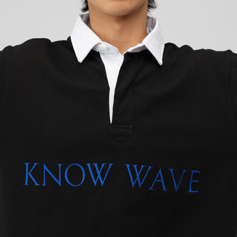 Know Wave Rugby Shirt in Black - Notre
