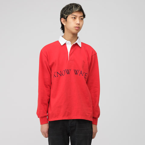 Know Wave Rugby Shirt in Red - Notre