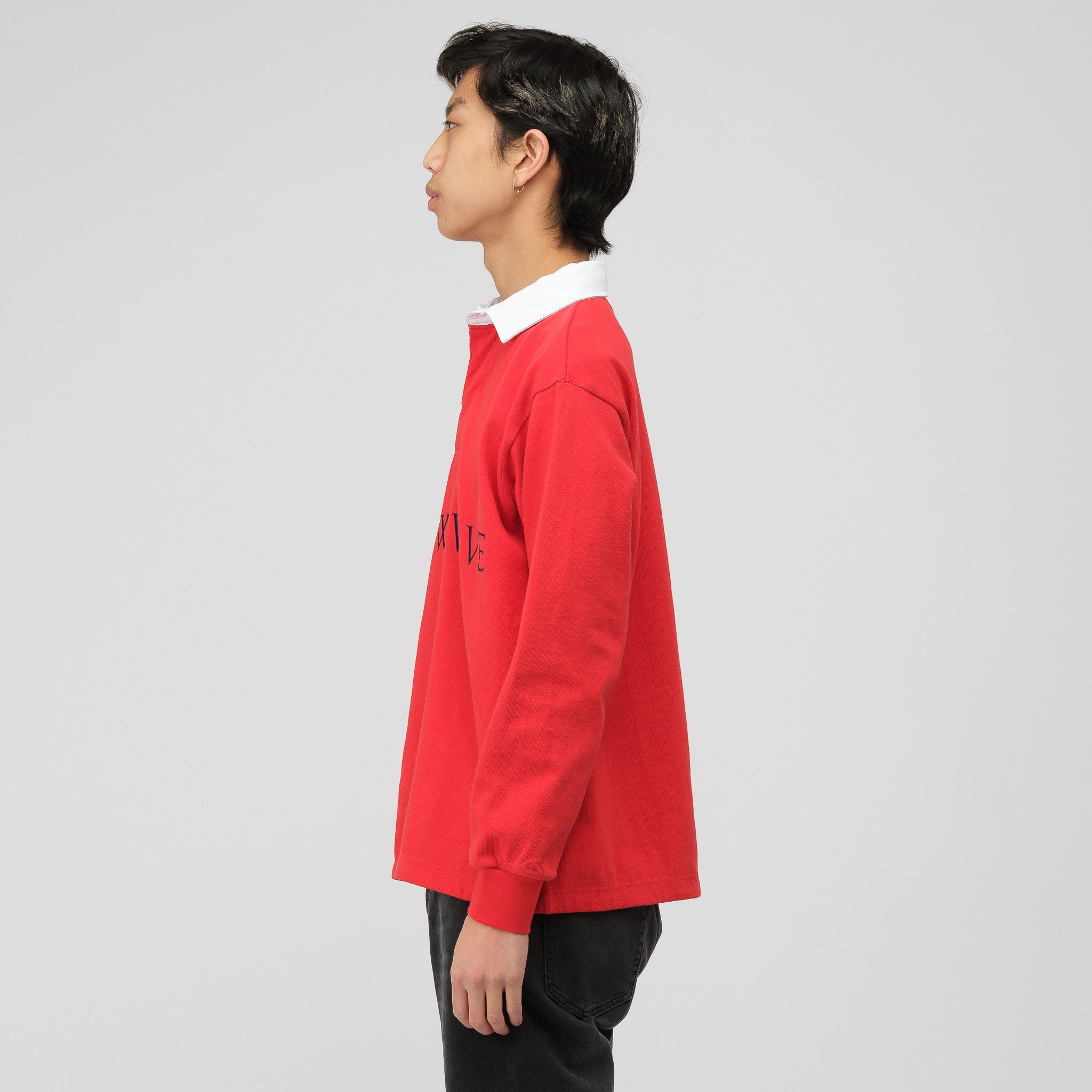 Know Wave Rugby Shirt In Red Notre