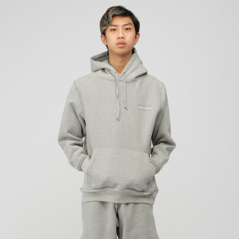 Know Wave Stack Embroidery Hoodie in Heather Grey - Notre