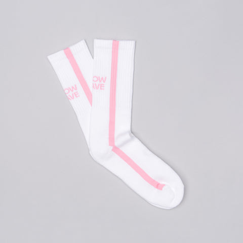 Know Wave Memes Socks in White/Pink - Notre