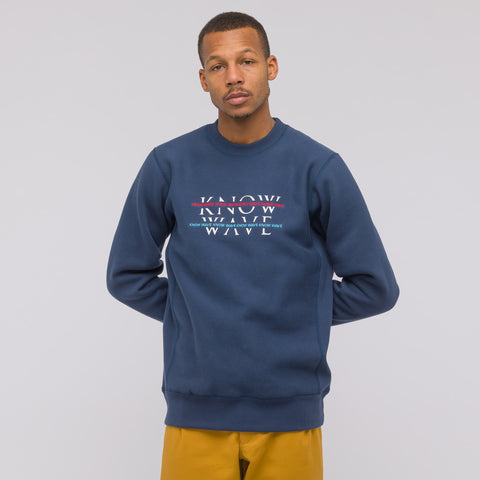 Know Wave Over Under Crewneck in Navy - Notre