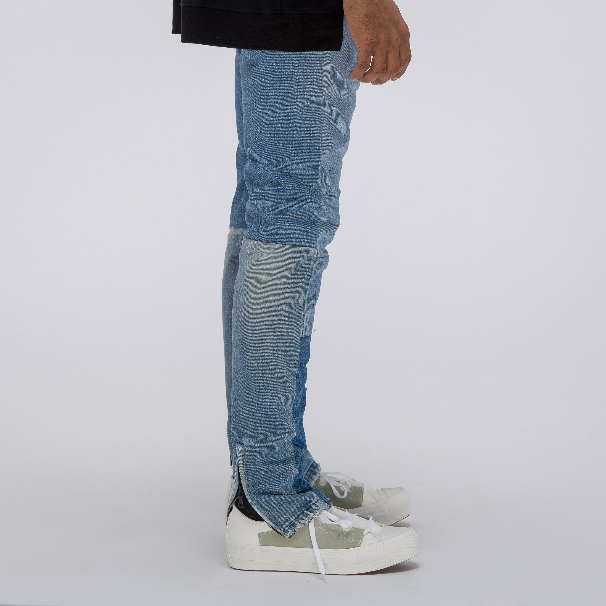 T2 Utility Jeans in Light Indigo