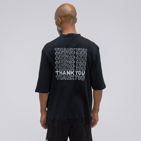 Longjourney Nash Thank You Print T-Shirt in Black - Notre
