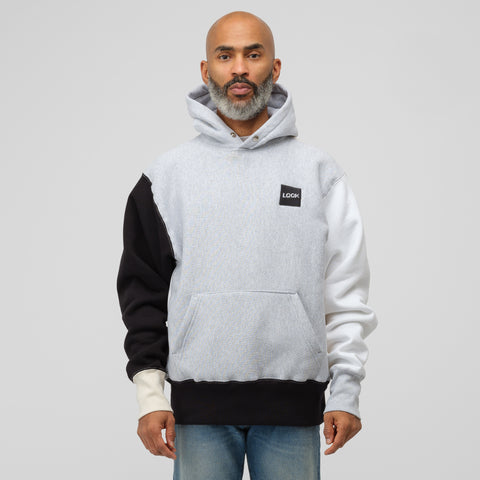 LQQK Studio Colorblock Snap Hoodie in Grey - Notre