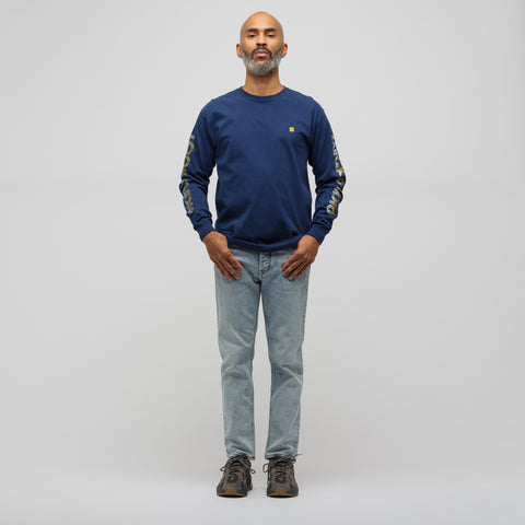 LQQK Studio Optical Long Sleeve T-Shirt in Navy - Notre